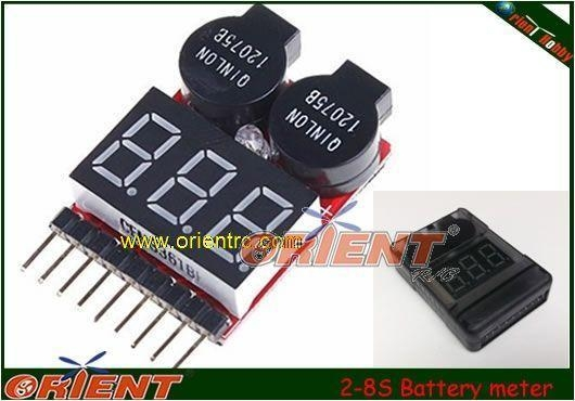Quality LiFe Li-ion Lipo 2-8S electronics Battery meter/monitor with Low Voltage Alarm for sale