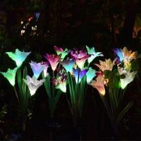 Buy cheap Solar Lily Flower Outdoor Garden Stake Lights Admin Edit from wholesalers