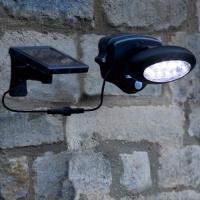 Black Solar Power Motion Wall Light with 3 Metres Wire Admin Edit Manufactures