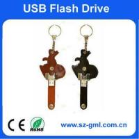 Buy cheap 4GB leather rabbit USB flash drive from wholesalers
