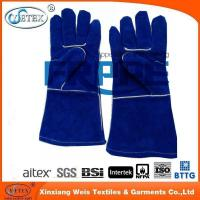 FR garments accessories fireproof leather gloves for welder