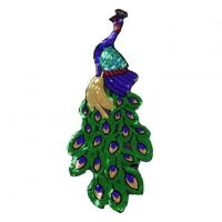 Lace Peacock Sewing Sequin Patch Applique Manufactures