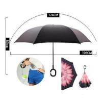 China hand open double layer inverted umbrella amazon top seller 2018 on sale