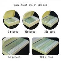 Buy cheap 50pcs Prepared Glass Microscope Slides Set For Student Science Research from wholesalers