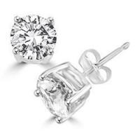 Buy cheap Diamond Essence Stud Earrings with Round Brilliant Stones - SEE502 from wholesalers