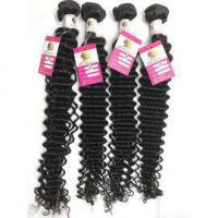 Buy cheap Peruvian Deep Wave Hair 100% Virgin Human Hair Weave for Black Women Dyeable #96503 from wholesalers