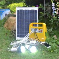 Buy cheap 3w-400w solar mini generator with led bulbs,radio,mobile phone charger from wholesalers