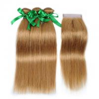 Buy cheap Vvwig #27 Hair Brazilian Unprocessed Hair Straight Hair 3 Bundles With Closure 4*4 Inch Lace from wholesalers
