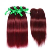 Buy cheap Vvwig Brazilian Hair #99J Hair Color Straight Soft Smooth Human Hair 3 Bundles from wholesalers