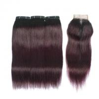 Buy cheap Vvwig Soft Smooth 1B Grape Purple Ombre Hair Good Feeling Brazilian Premium Straight Hair 3 Bundles from wholesalers