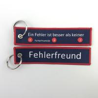 Buy cheap custom wholesale promotional double side design woven key chain from wholesalers