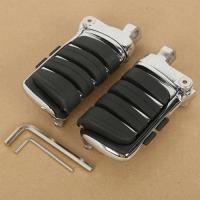 Buy cheap Chrome Switchblade Male Mount Foot Pegs For Harley Davidson Softail Dyna Fatboy from wholesalers