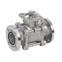3PC Stainless Steel Vacuum Ball Valve with Pad with Actuator Manufactures