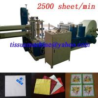 High Speed Embossing Printing Paper Napkin Tissue Folding Converting Making Machine Manufactures