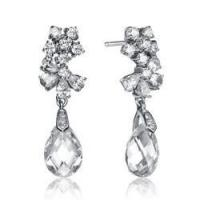 Buy cheap Diamond Essence Designer Drop Earring With Pear And Round Brilliant Stones,8 Cts.T.W. - SEC2330 from wholesalers