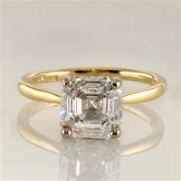 Buy cheap Diamond Essence Solitaire Ring with Asscher Cut stone - GRD3A10 from wholesalers