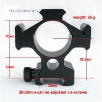 Buy cheap ED Glass Rifle Scope  30mm Weaver Picatinny Scope mount from wholesalers