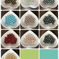 Buy cheap Round Shell Pearl Half Drilled 8MM 10 Colors from wholesalers